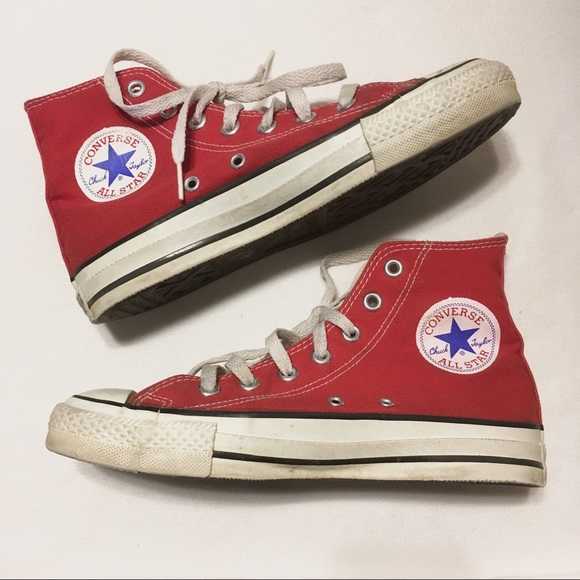 a1b404899213 Converse Other - Vintage Made In USA Converse Red High Tops 5.5